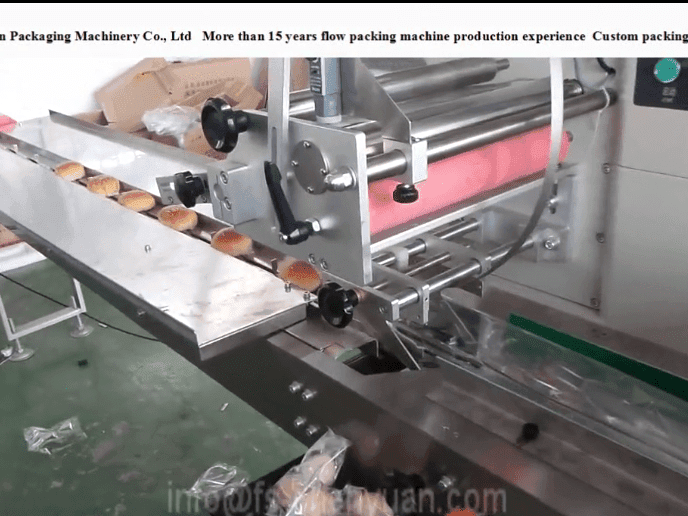 bread packing machine video.