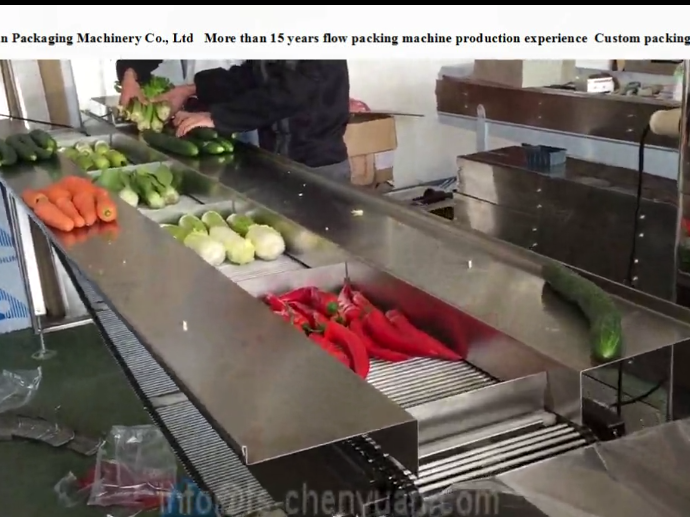 vegetable packing machine video