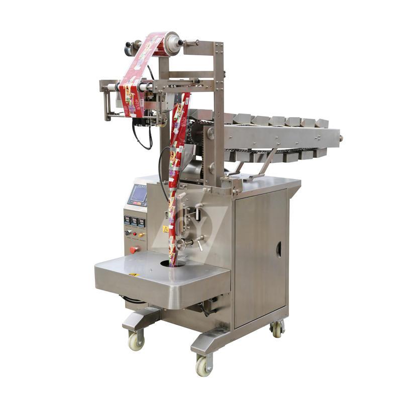 Bucket chain semi-automatic potato chip/crispy rice/apple flakes/ lollipop vertical packing machine DLP-320B