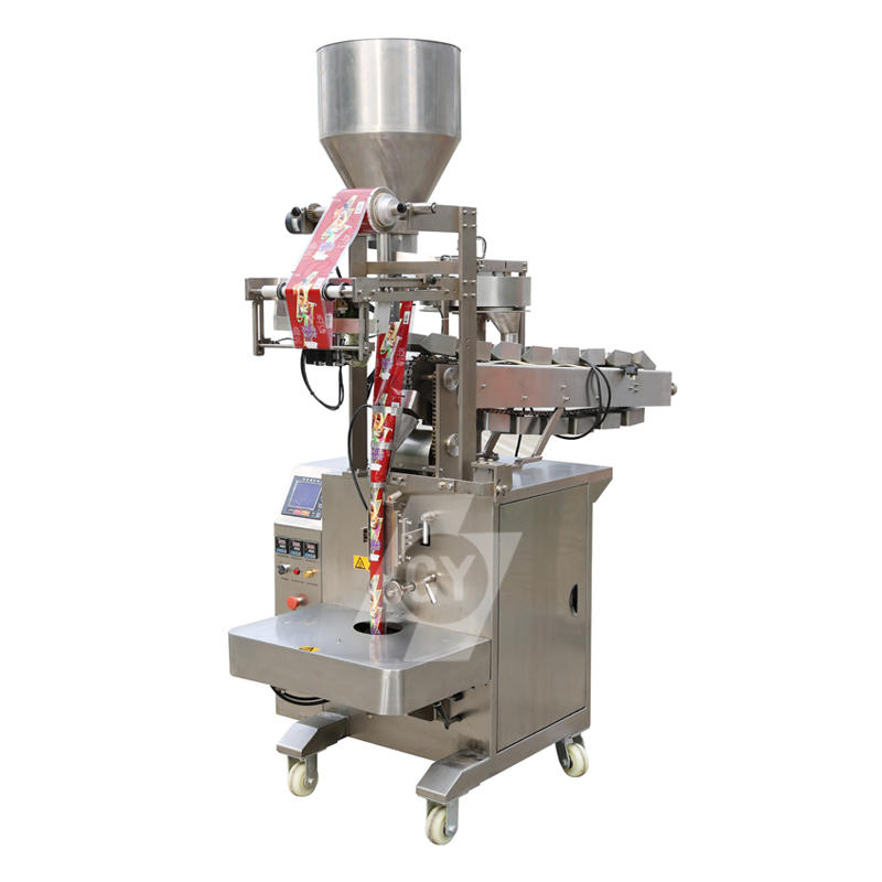 Puffed food/peanut/seed granule packing machine/Multi-materials automatic packing machine with volumetric cups and bucket chain