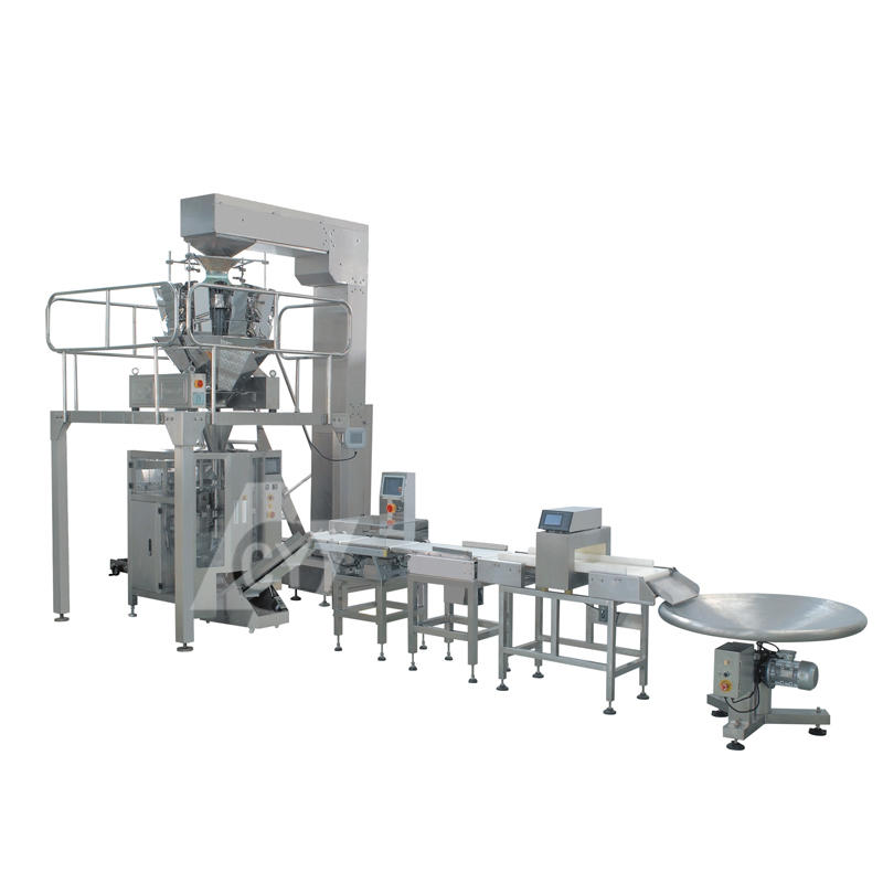 Multi-heads combined weigher full automatic packing machine with select scale and metal detector DC-4230F